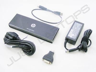 HP ZBook 14 USB 2.0 Docking Station Port Replicator w/ VGA HDMI w/ AC Adapter