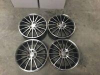 """18 19"""" Inch Multi spoke C63 AMG Style Alloy Wheels merc C E A S Class 5X112 W204 W205 W212 W213 W221"""