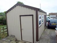 multipurpose steel sheds - maintenance free pvc coated cladding