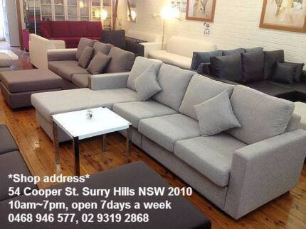 New sofa lounge, couch, L-shape sofa bed available, long warranty Chatswood Willoughby Area Preview