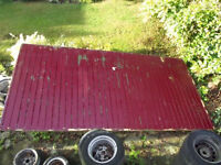 UP AND OVER GARAGE DOOR 14 FT X 7 FT GOOD CONDITION ALL PARTS WITH IT