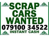 07910 034 522 WANTED CAR VAN 4x4 SELL MY BUY YOUR SCRAP FOR CASH