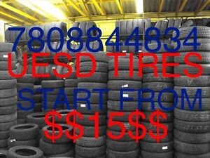 Used tires start from 15$ + Installation Repair 7808844834