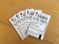 4 x Alton Towers Adults Tickets with Car Parking