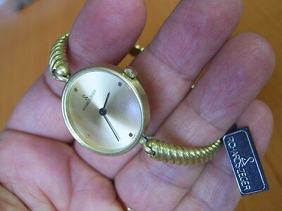 NOS 70'S RICHARDS ZEGER VERMEIL 0.925 SOLID SILVER MANUAL LADIES WATCH     *5848