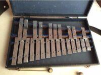 Vintage premier xylophone. Glockenspiel.
