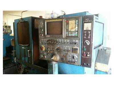 1987 Miyano Knc-45 Cnc Lathe Twin Turrets Fanuc Ot Control 16 Hp Running Power