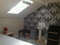 Loft double room near city center friendly shared house close Salford university