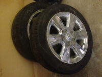 Selling 4 LIKE NEW tires&rims off dodge journey 225/55 r19