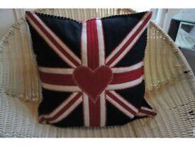 Designer Jan Constantine Pure Wool Cushion Shabby Chic RRP £82