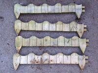 Wooden Garden Border Fencing