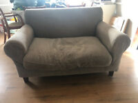 Habitat grey 2 seater sofa loveseat