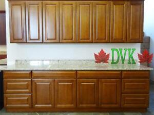 Coffee Beech kitchen cabinets on sale