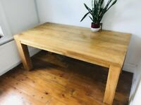 Solid 6ftx3ft table made from high quality mango wood