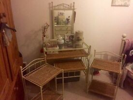 FURTHER REDUCTUON Bedroom furniture set, dressing table and stool with matching bedside table