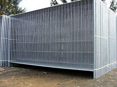 Bauzaun Absperrung Absperrgitter Absprerrzaun Zaun 3,5 x 2,0m NEU! KOMPLETT 70m