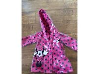 Kids Minnie Mouse rain coat 12 - 18 months