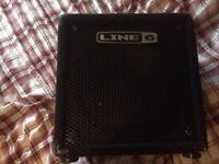Bass Amp Line 6 studio 110. 75 watts
