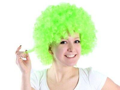 XXL GRÜN Clown-Perücke Afro-Perücke bunt Party Karneval Kostüm - Grüne Clown Perücke