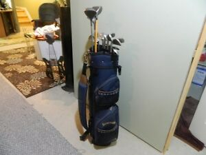 Spalding Bag with RH Spalding Clubs & Cart