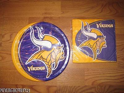 Minnesota Vikings Party Supplies (HALLMARK~NFL MINNESOTA VIKINGS~PARTY SUPPLIES~CHOOSE PAPER NAPKINS OR)