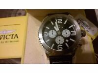 Invicta - 1427 Mens II Collection Chronograph Black Dial Leather Watch - Boxed etc