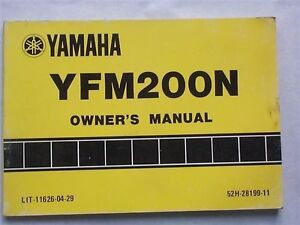 1984 yamaha yfm200n yfm200 owners manual ebay. Black Bedroom Furniture Sets. Home Design Ideas