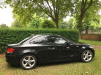 BMW 120D ES Coupe in Black Sapphire metallic 2008 , 118k