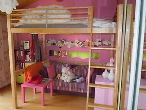 IKEA double loft bed excellent condition