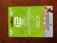12 Months XBOX LIVE Gold Subscription
