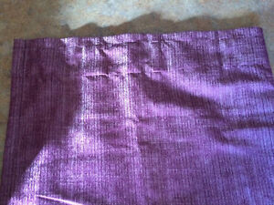 Eggplant curtains and pillows