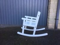 ikea sundvik white rocking-chair