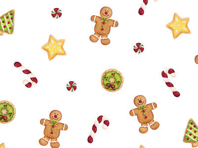 20 Christmas Gingerbread Treats Cookie Candy 3x7 Cello Gift Bags Holiday Goodies