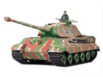 Heng Long 1:16 2.4G Remote Control King Tiger RC Tank BB Smoke & Sound