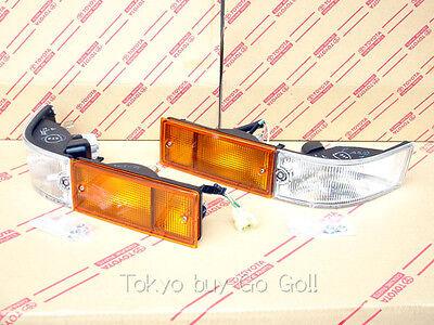 Toyota AE86 Trueno Kouki Front Bumper Turn signal lamp set NEW Genuine OEM Parts