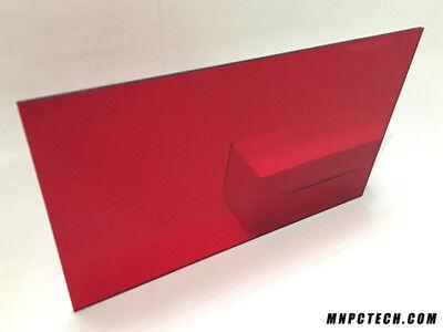 14 Transparent Dark Red Acrylic Plexiglas Sheet 12 X 20 Cast Acrylic Azm