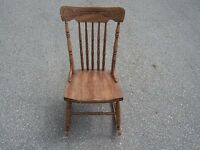 1920's Wooden Rocking Chair