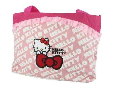 Hello Kitty Kinder-Tasche Shopper Handtasche groß mit Fahrrad-Befestigung pink - Kitty Shopper Tasche