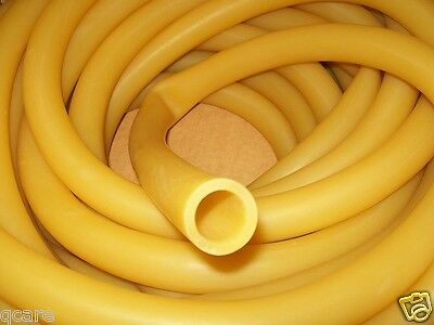12 I.d X 116 Wall X 58 O.d Latex Rubber Tubing Amber By The Foot