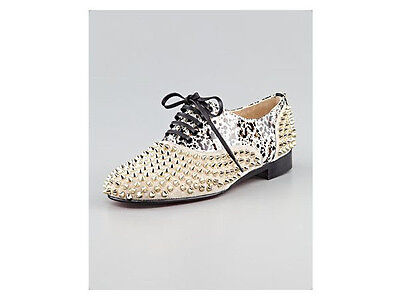 100% AUTHENTIC NEW WOMEN LOUBOUTIN SPIKE FREDDY OXFORDS/DRIVERS US 4
