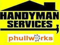 HANDYMAN SERVICES - ODD JOBS - TV BRACKET - IKEA FLAT PACK - CARPENTER - PAINTER - TILER - PLUMBER