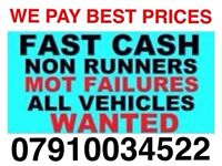 Cash for cars even scrap wanted