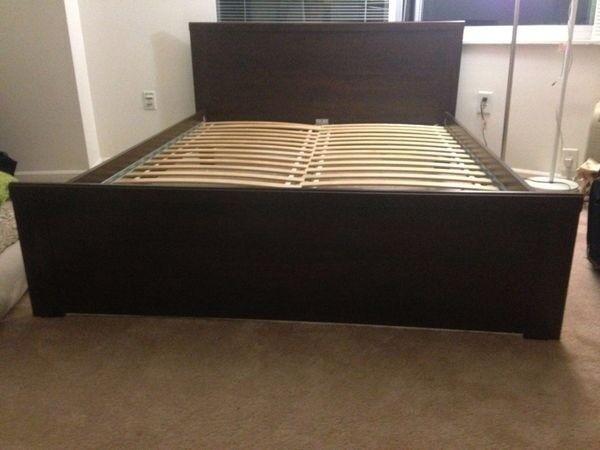 Ikea Brusali Bed Frame Brown King Size
