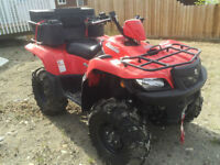 2011 king quad and trailer
