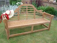 "NEW 5ft6""LONG A GRADE TEAK LUTYENS GARDEN BENCH FREE DELIVERY TO THE UK"