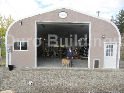Durospan Steel 20x35x16 Metal Garage Shop Building Kit Open Ends Factory Direct