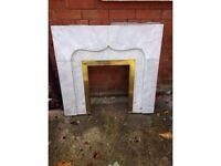 Marble fireplace inset - FREE!