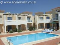 2 bedroom house with pool in Cyprus Pafos to rent for summer or winter rental let