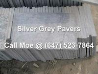Silver Grey Flagstone Pavers Silver Gray Square Cut Paving Stone