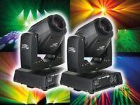 Pair of Showtec Phantom 50 LED Moving Heads (inc. padded cases) # pro disco band DJ club lights